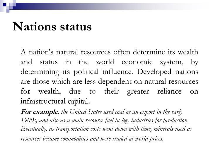 Nations status