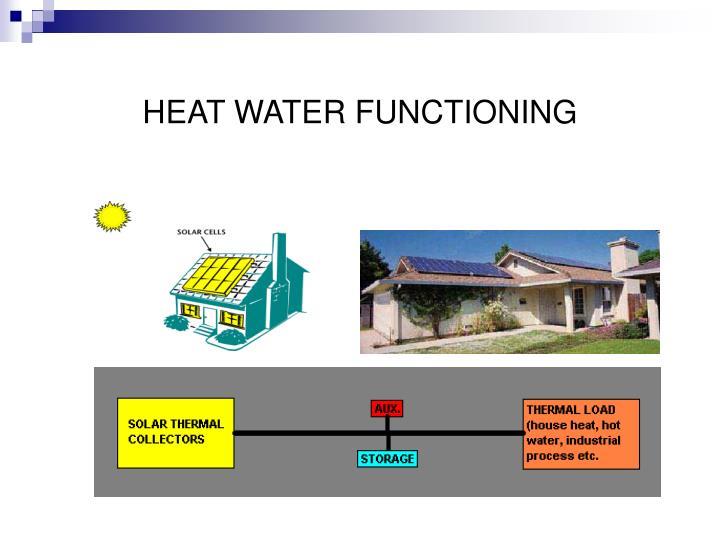HEAT WATER FUNCTIONING