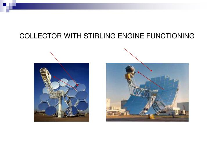 COLLECTOR WITH STIRLING ENGINE FUNCTIONING