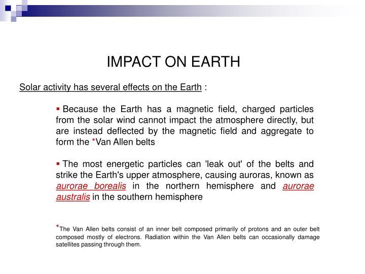 IMPACT ON EARTH