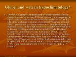 globel and wetern hydoclimatology
