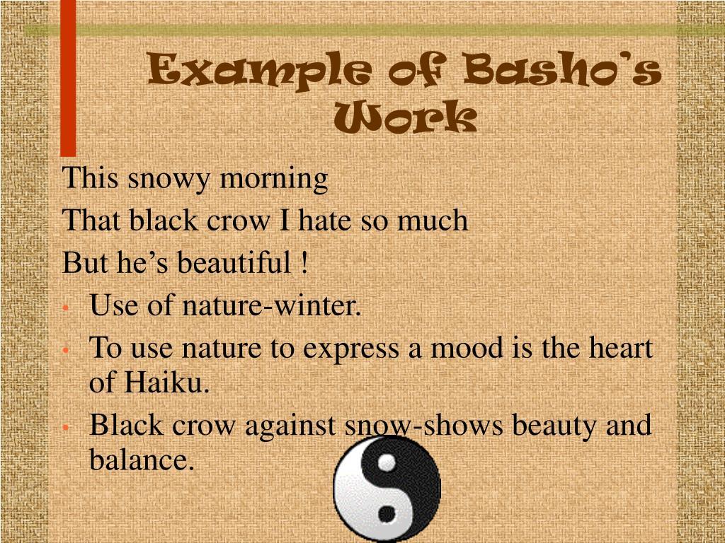 Example of Basho's Work