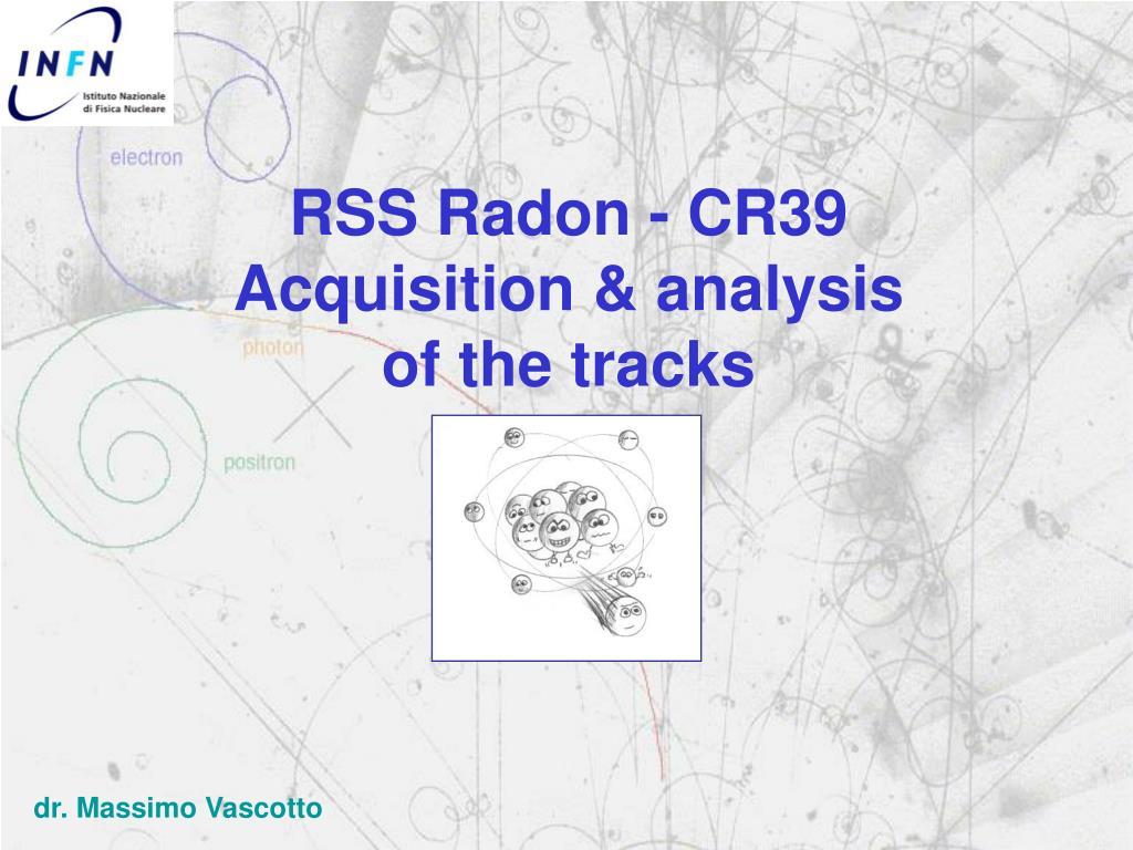 RSS Radon - CR39