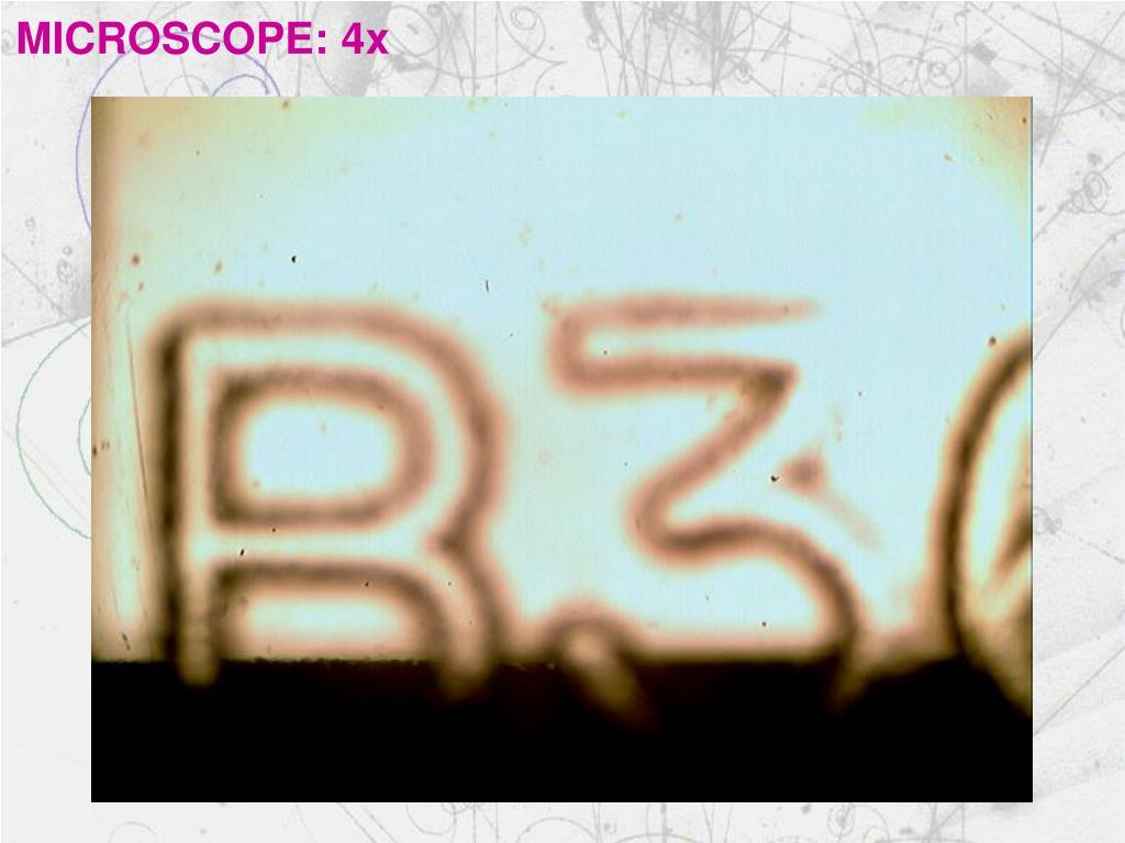 MICROSCOPE: 4x