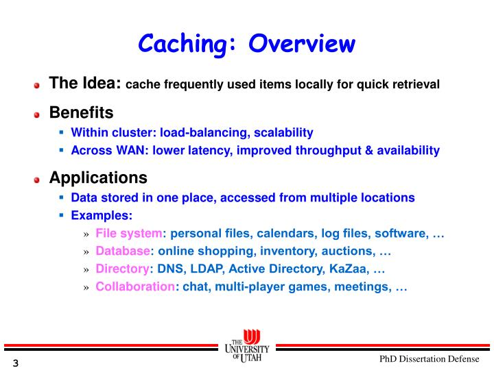 Caching: Overview