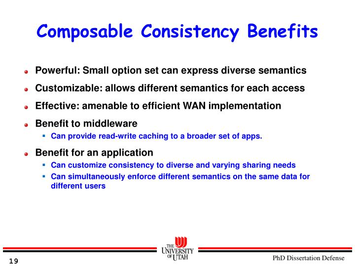 Composable Consistency Benefits