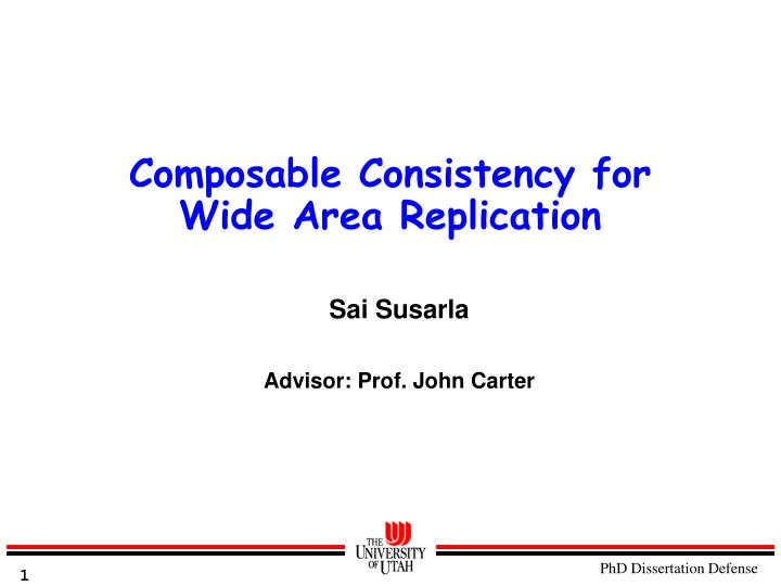 composable consistency for wide area replication