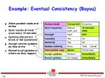 example eventual consistency bayou