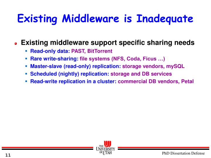 Existing Middleware is Inadequate