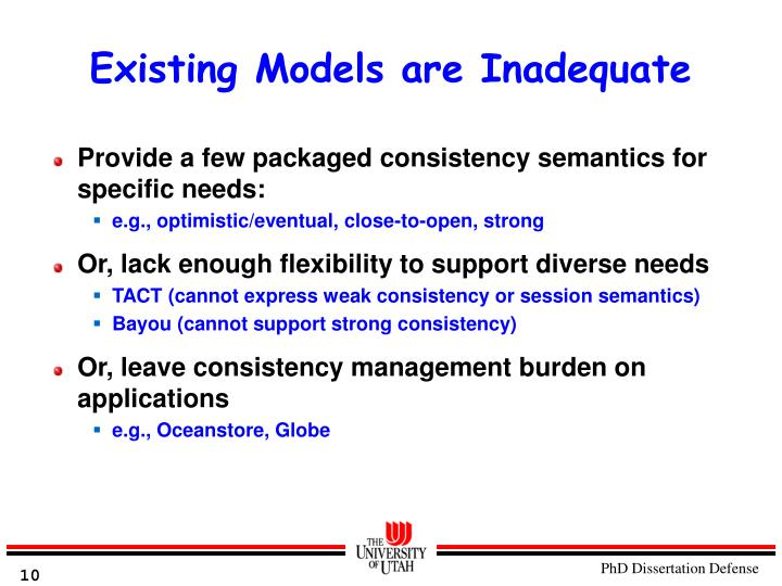 Existing Models are Inadequate