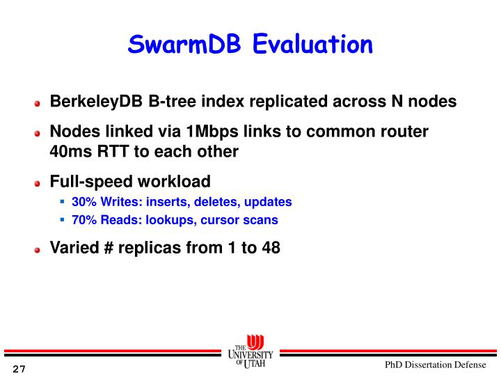 SwarmDB Evaluation
