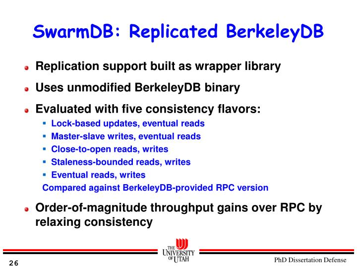 SwarmDB: Replicated BerkeleyDB