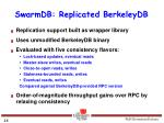 swarmdb replicated berkeleydb