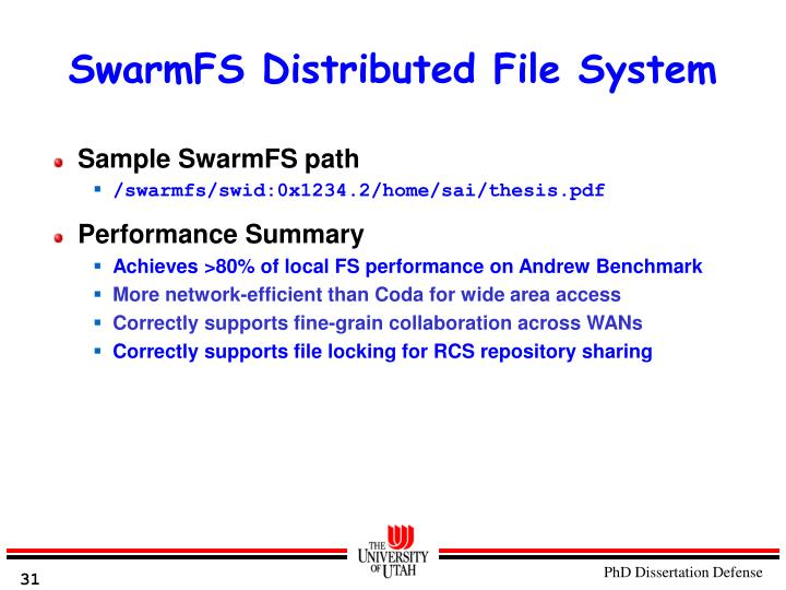 SwarmFS Distributed File System
