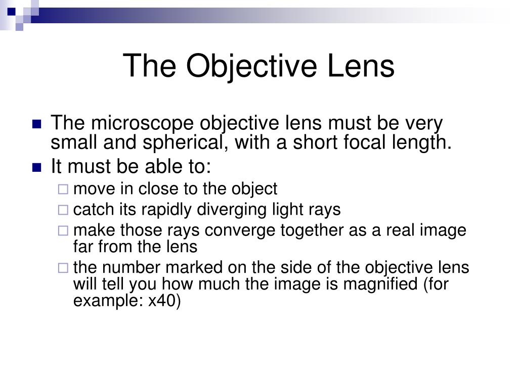 The Objective Lens