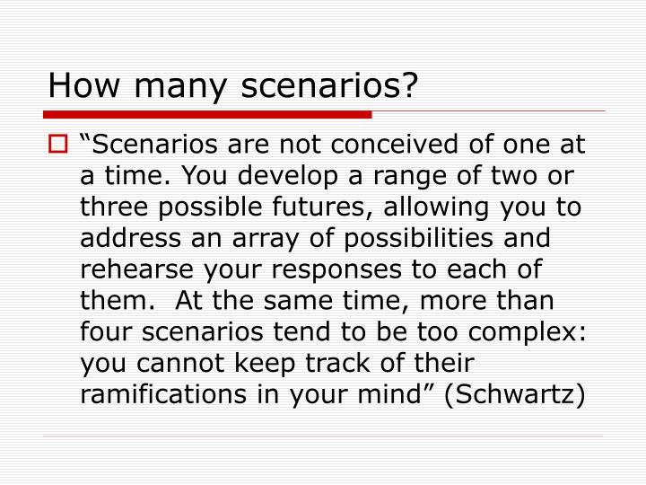 How many scenarios?