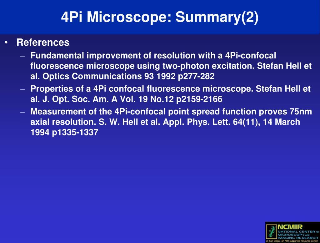 4Pi Microscope: Summary(2)