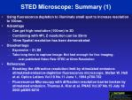 sted microscope summary 1