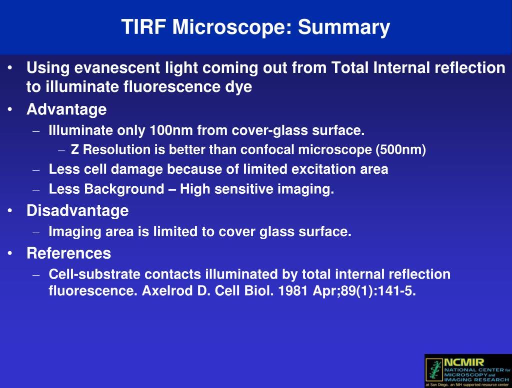 TIRF Microscope: Summary