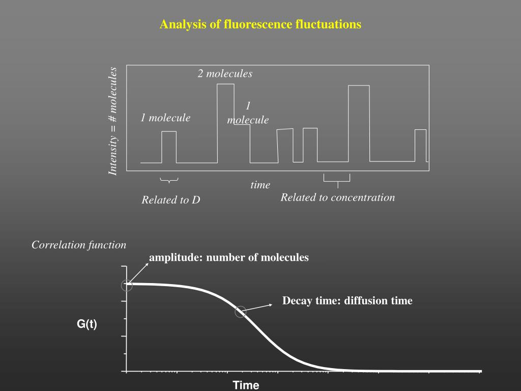 Analysis of fluorescence fluctuations