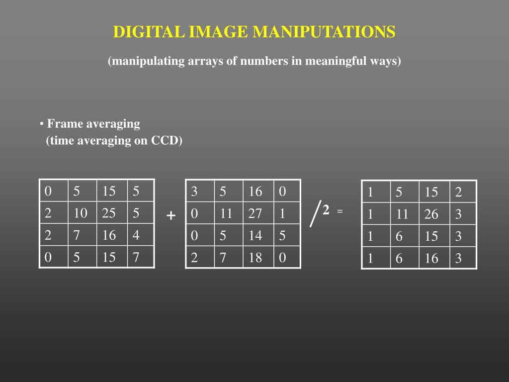 DIGITAL IMAGE MANIPUTATIONS