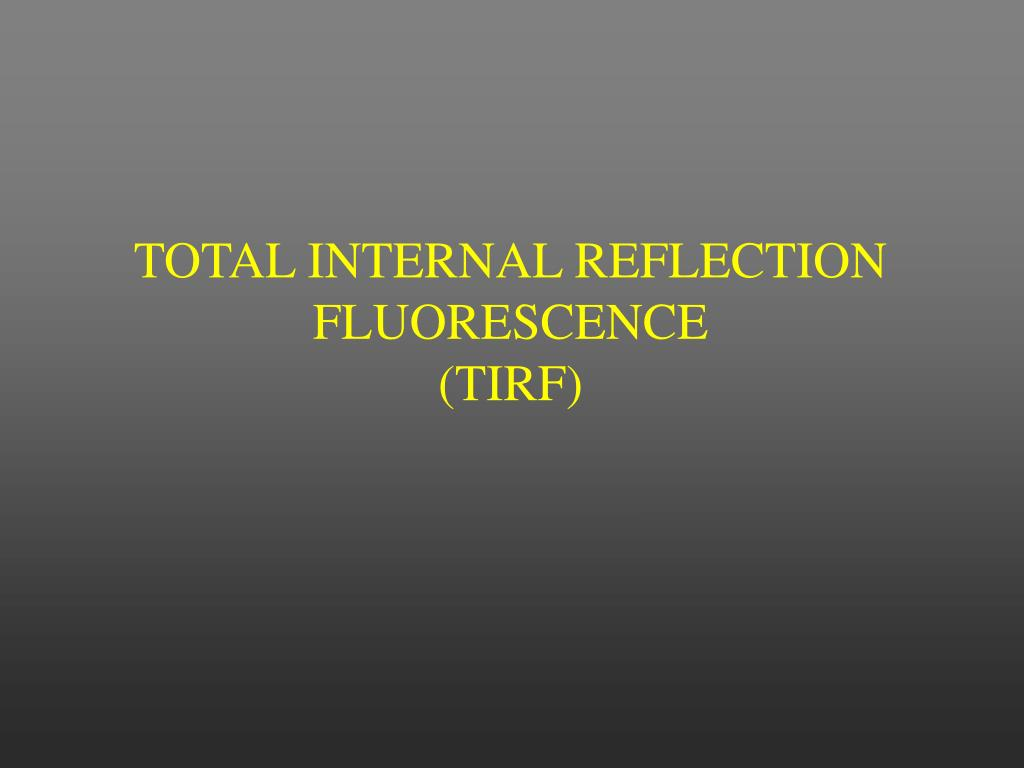 TOTAL INTERNAL REFLECTION FLUORESCENCE