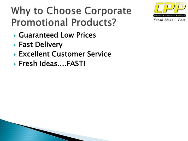 Why to choose corporate promotional products