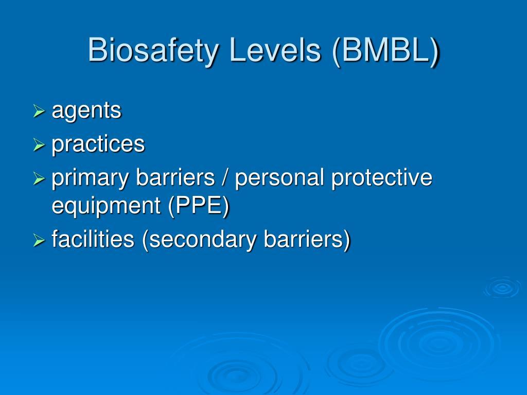 Biosafety Levels (BMBL)