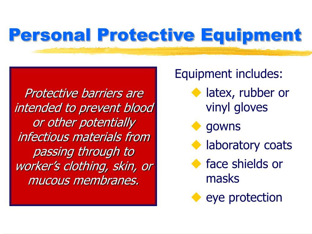 Equipment includes: