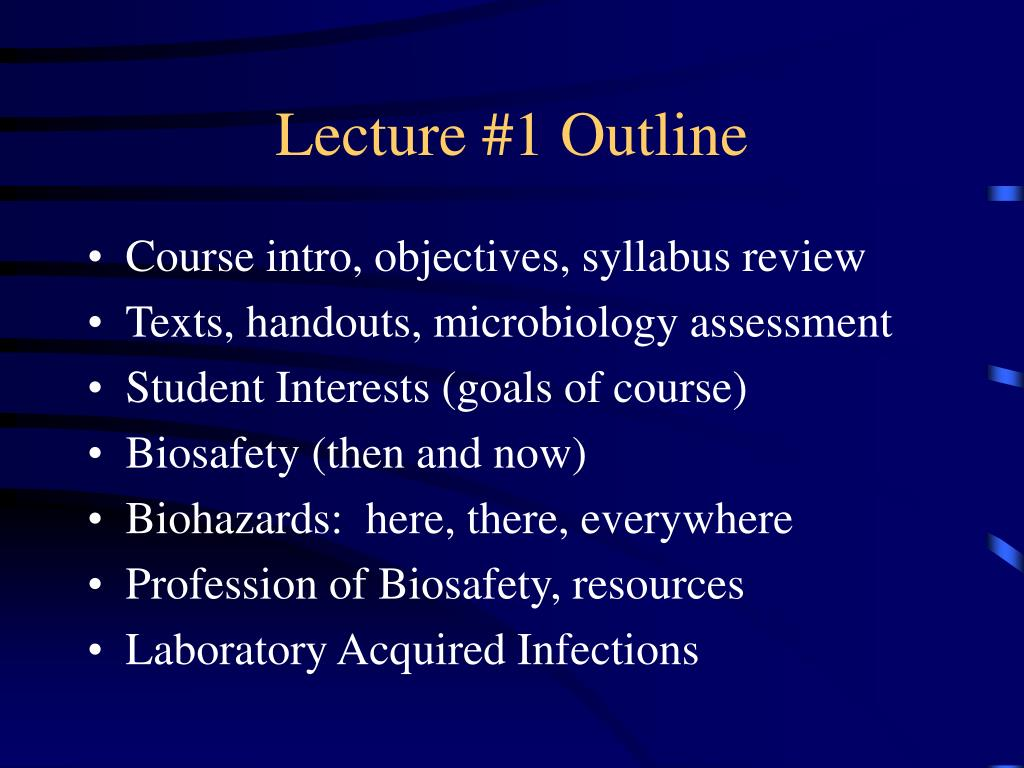 Lecture #1 Outline