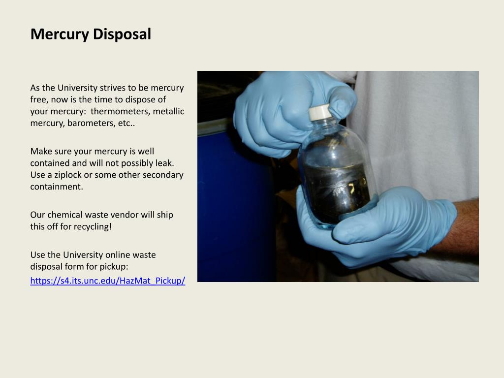 Mercury Disposal