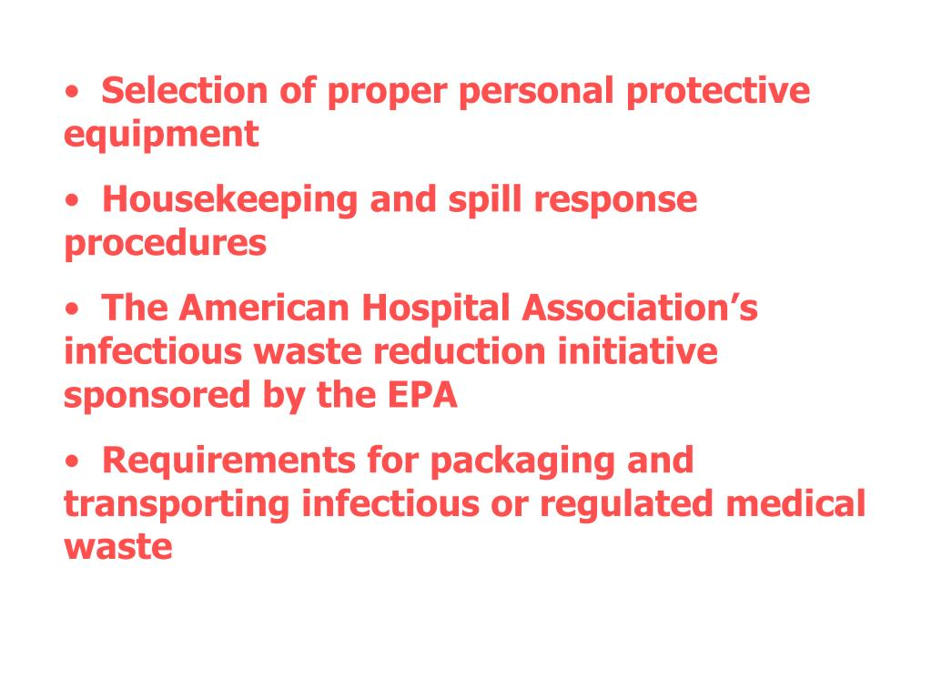 Selection of proper personal protective equipment