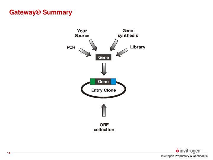 Gateway® Summary