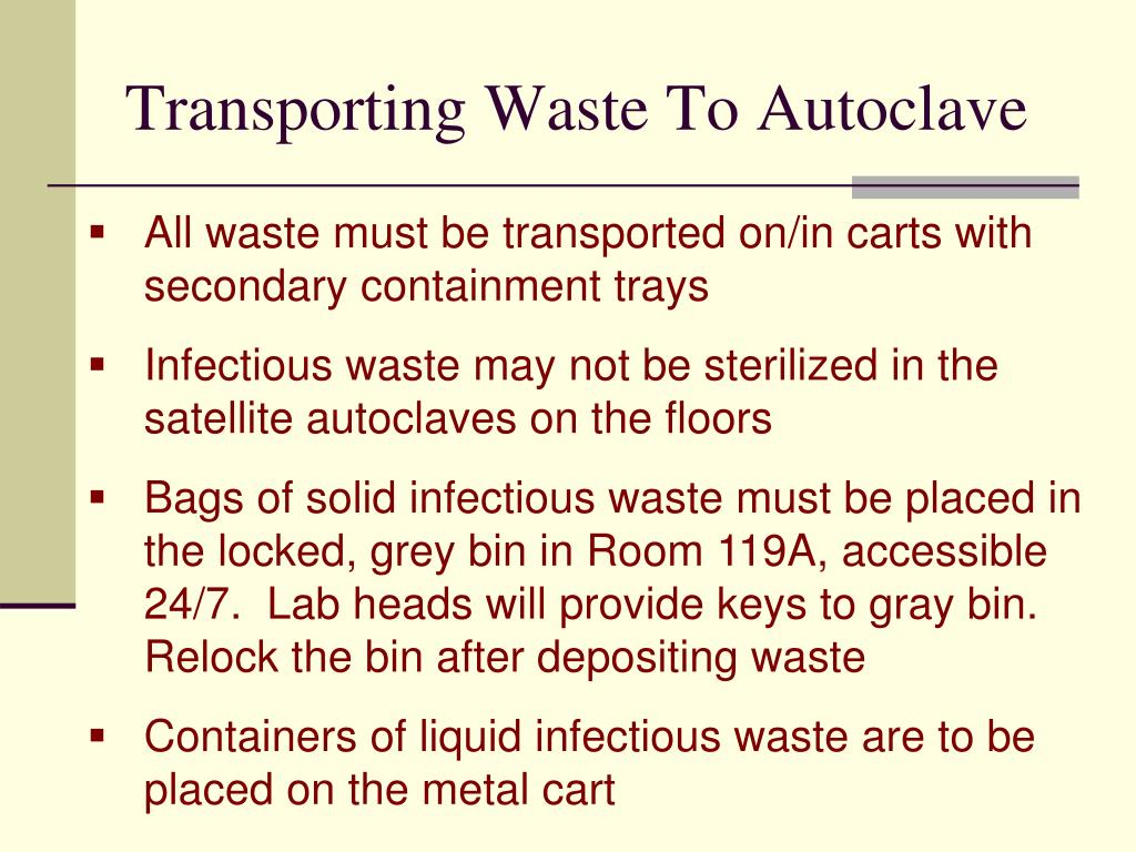 Transporting Waste To Autoclave
