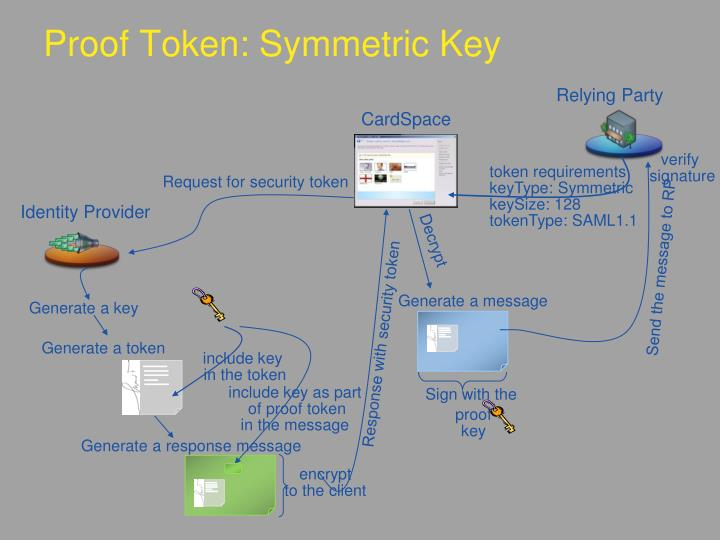 Proof Token: Symmetric Key