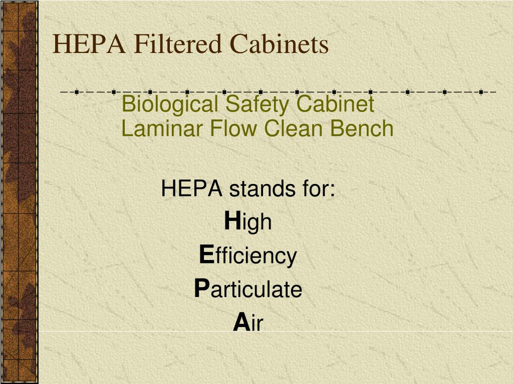 HEPA Filtered Cabinets
