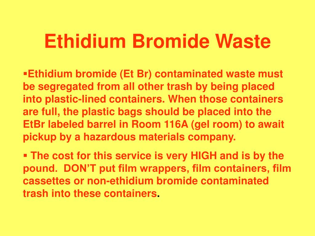 Ethidium Bromide Waste