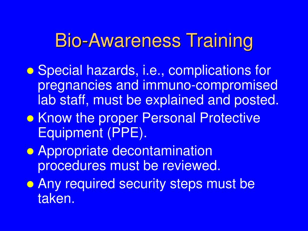 Bio-Awareness Training