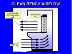 clean bench airflow