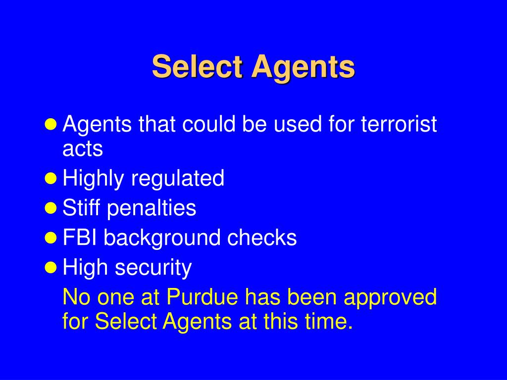 Select Agents