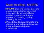 waste handling sharps