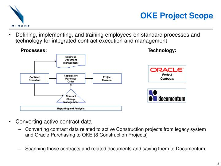 Oke project scope