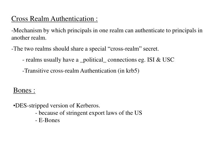 Cross Realm Authentication :