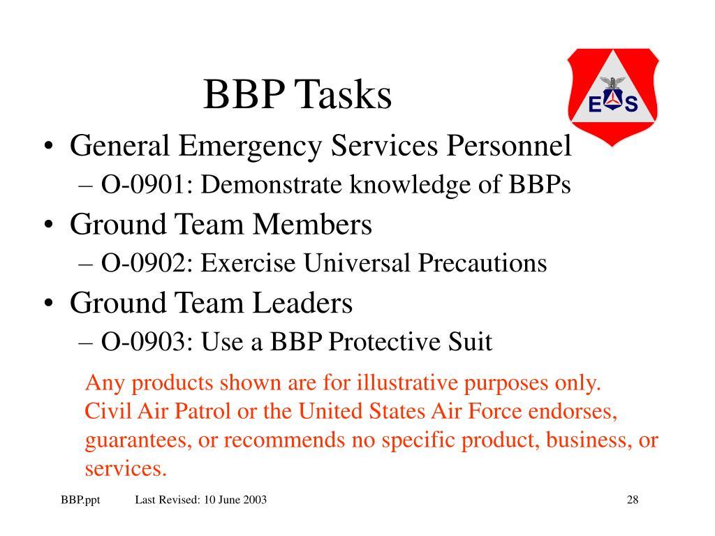 BBP Tasks