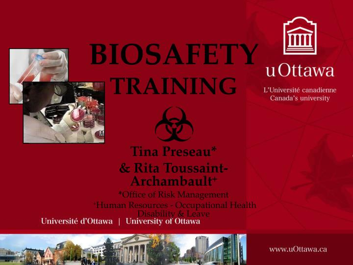 Biosafety training l.jpg