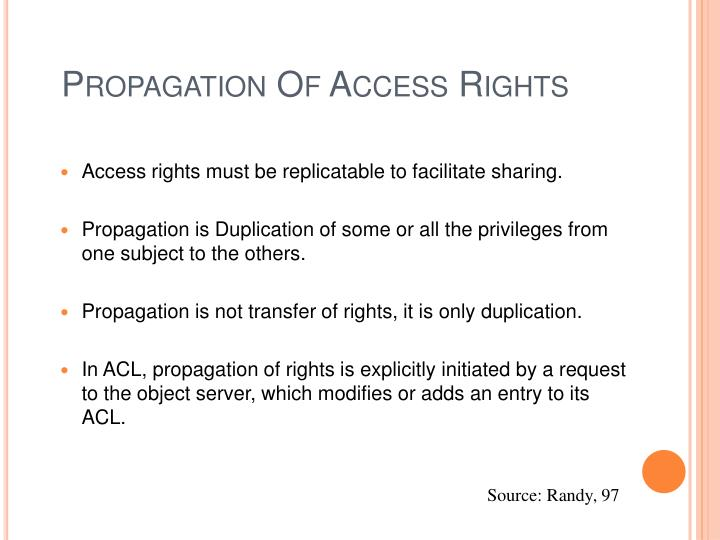 Propagation Of Access Rights