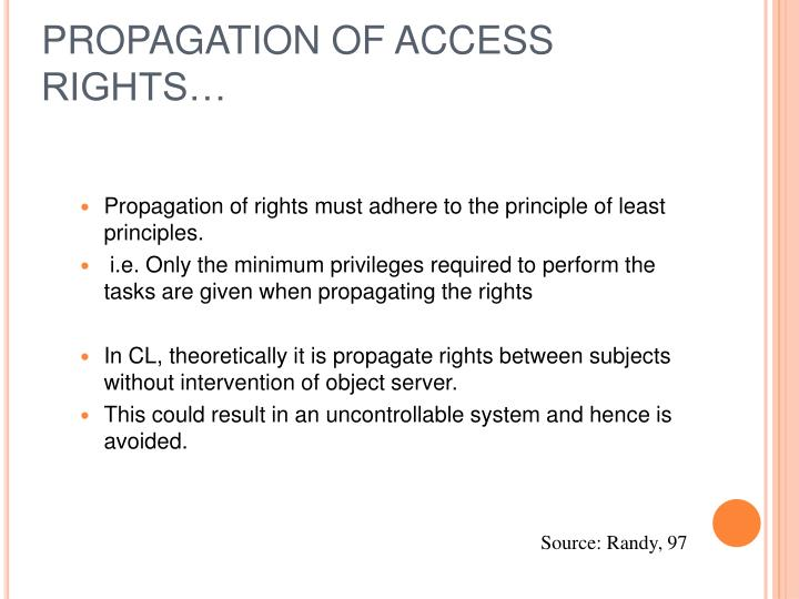 PROPAGATION OF ACCESS RIGHTS…