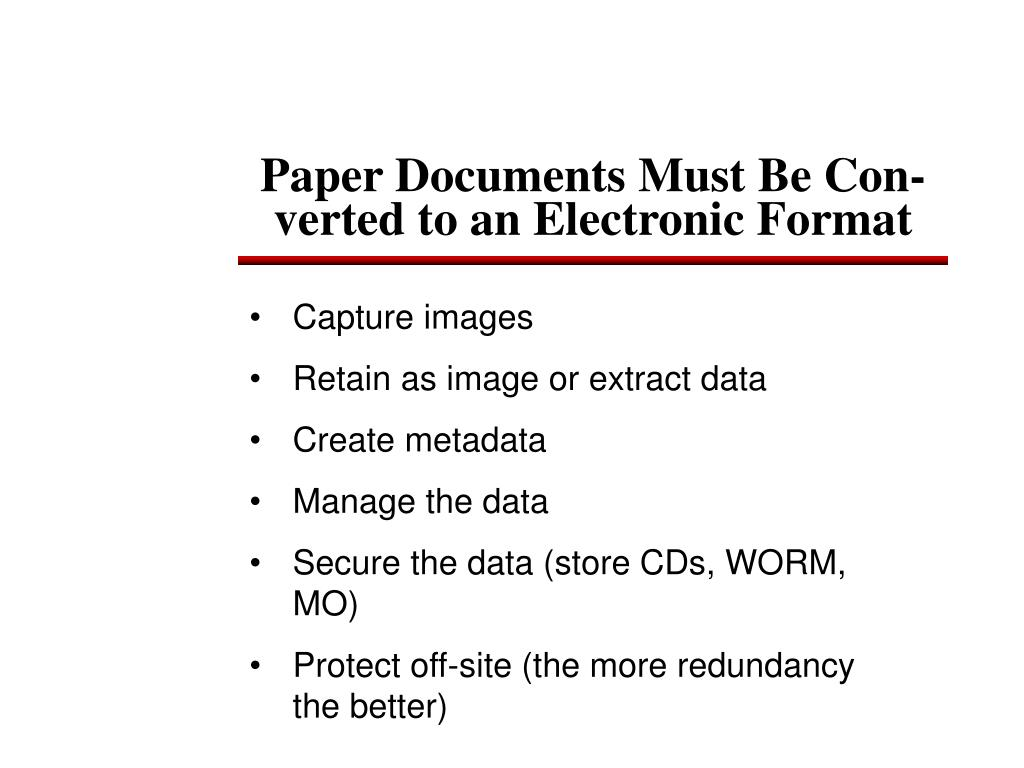 Paper Documents Must Be Con-