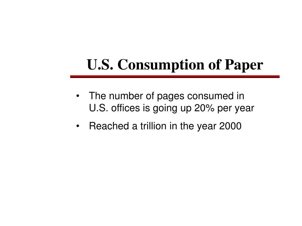 U.S. Consumption of Paper