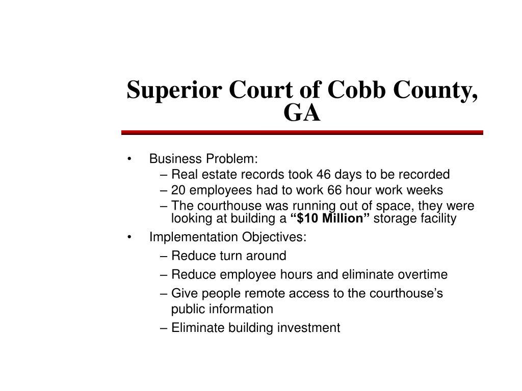 Superior Court of Cobb County, GA